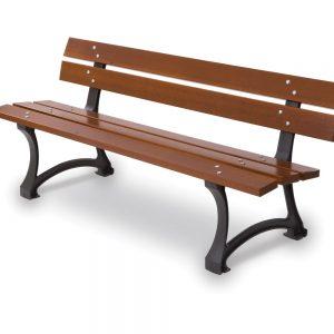 Panchina in legno per arredo urbano