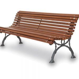 panchina di legno arredo urbano
